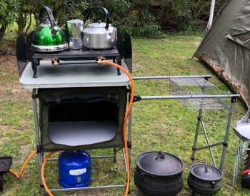 gas top/ wash/dry rack