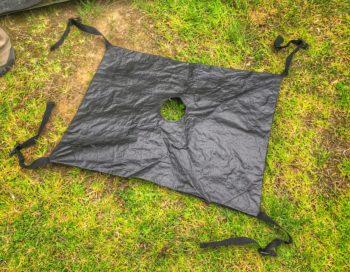 portable shower bag holder