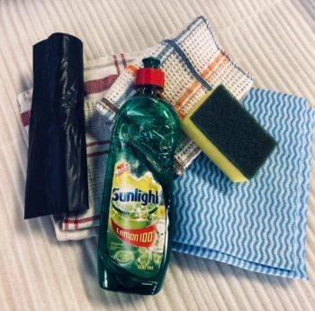 sponges dishwash liquid